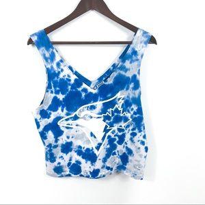 Victoria Secret PINK Blue Jays Tie Dye Tank